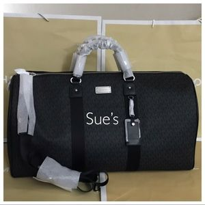 Nwt Mk Signature Travel XL Duffle Bag- Black